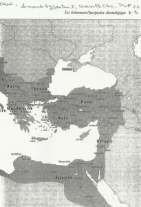 Carte Empire Byzantin